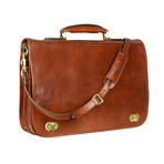 Illusions // Leather Briefcase // Brown