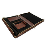 Candide // Leather Document Folder // Dark Brown