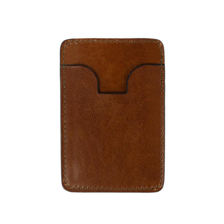1984 // Leather Card Case // Brown