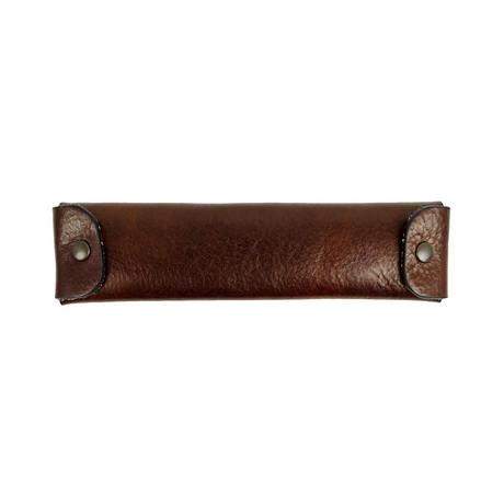 Appointment In Samarra // Leather Pen Case Holder // Dark Brown