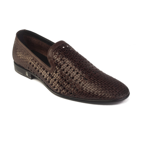 Woven Leather Loafer // Brown (US: 7)