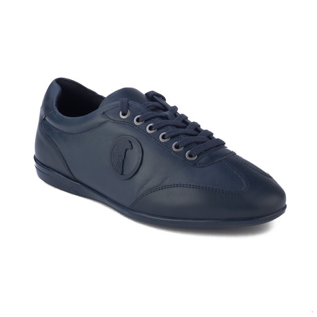 Versace Collection // Medusa Low-Top Sneakers // Navy Blue (US: 6)
