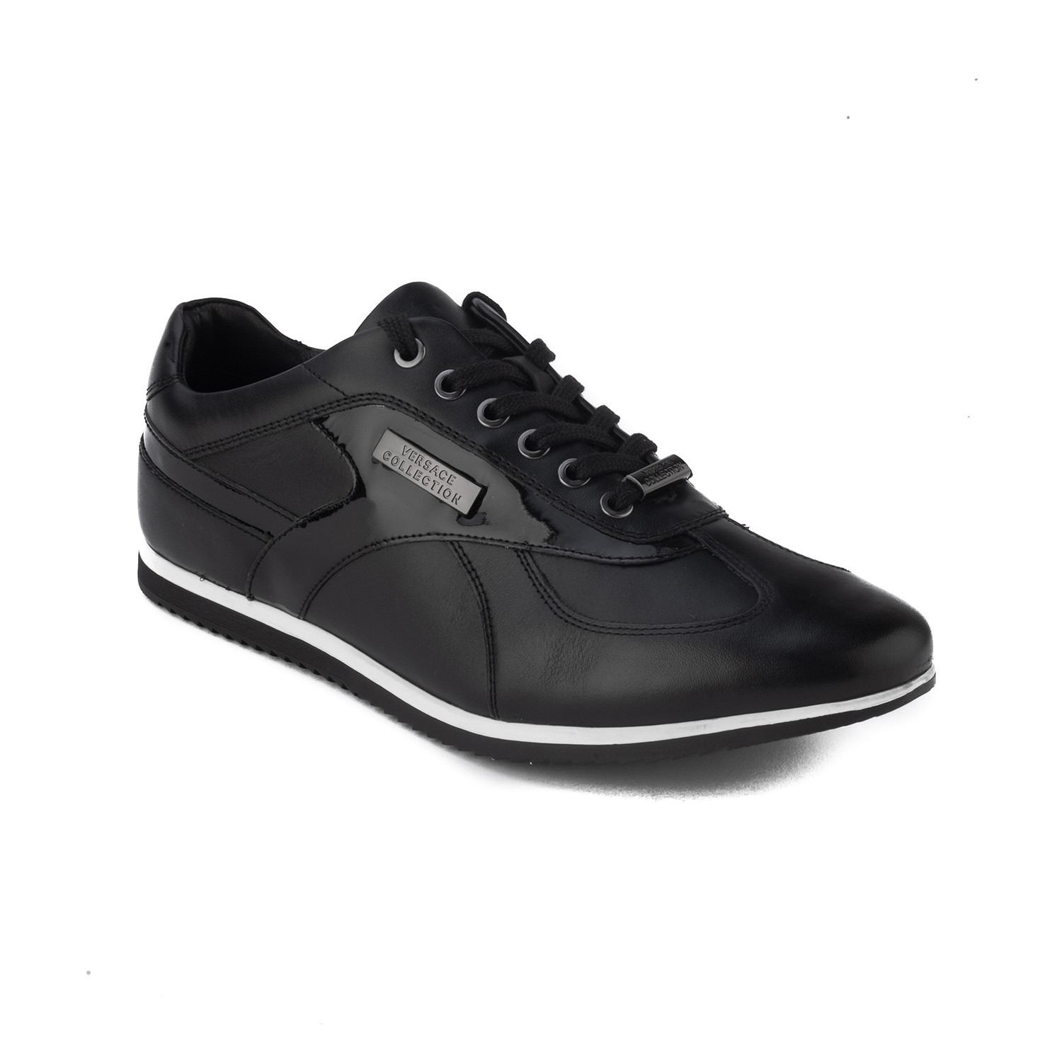 9fdb2a2833a Leather Low Top Sneaker    Black (US  8) - Versace Collection ...