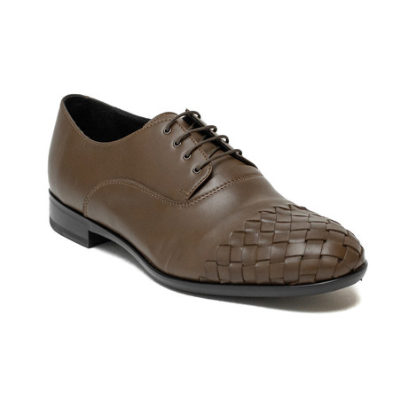 Versace Collection // Lace-up Intrecciato Dress Shoes // Brown (US: 6)