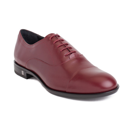 Versace Collection // Medusa Lace-up Dress Shoes // Burgundy (US: 6)