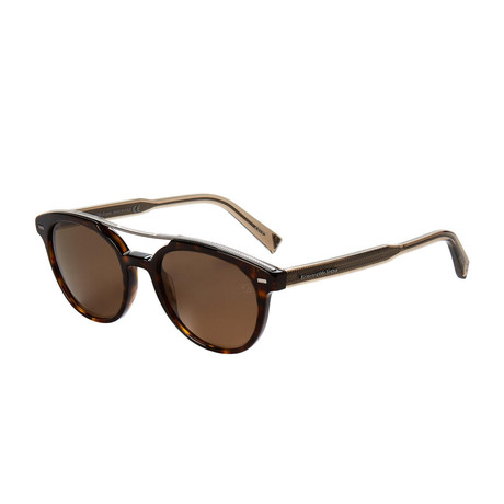 Zegna // Pilot Polarized Sunglasses // Tortoise + Brown