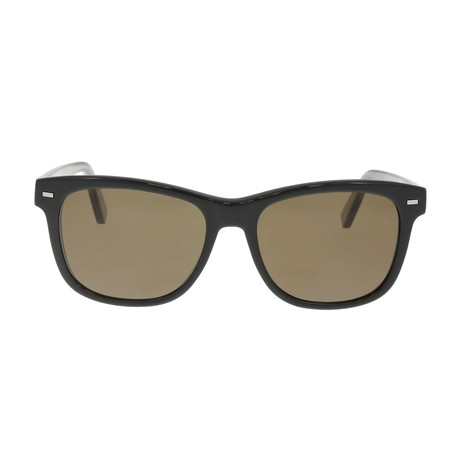 Zegna // Classic Polarized Sunglasses // Shiny Black