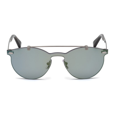 Zegna // Single Lens Sunglasses // Gray + Green