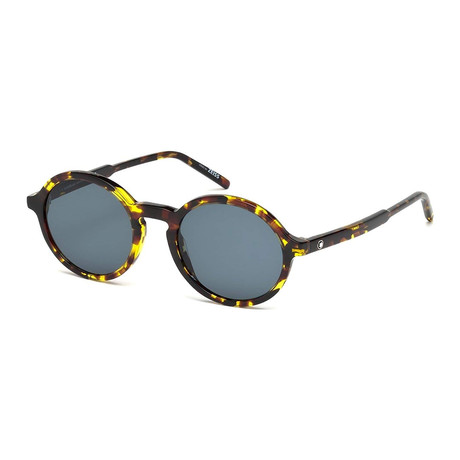 Montblanc // Classic Round Acetate Sunglasses // Colored Havana + Gray