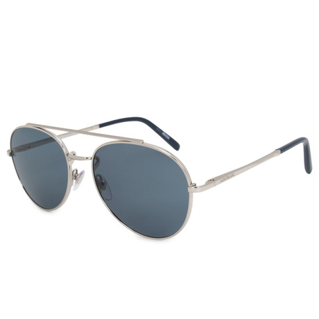 Montblanc // Aviator Sunglasses // Shiny Palladium + Gray