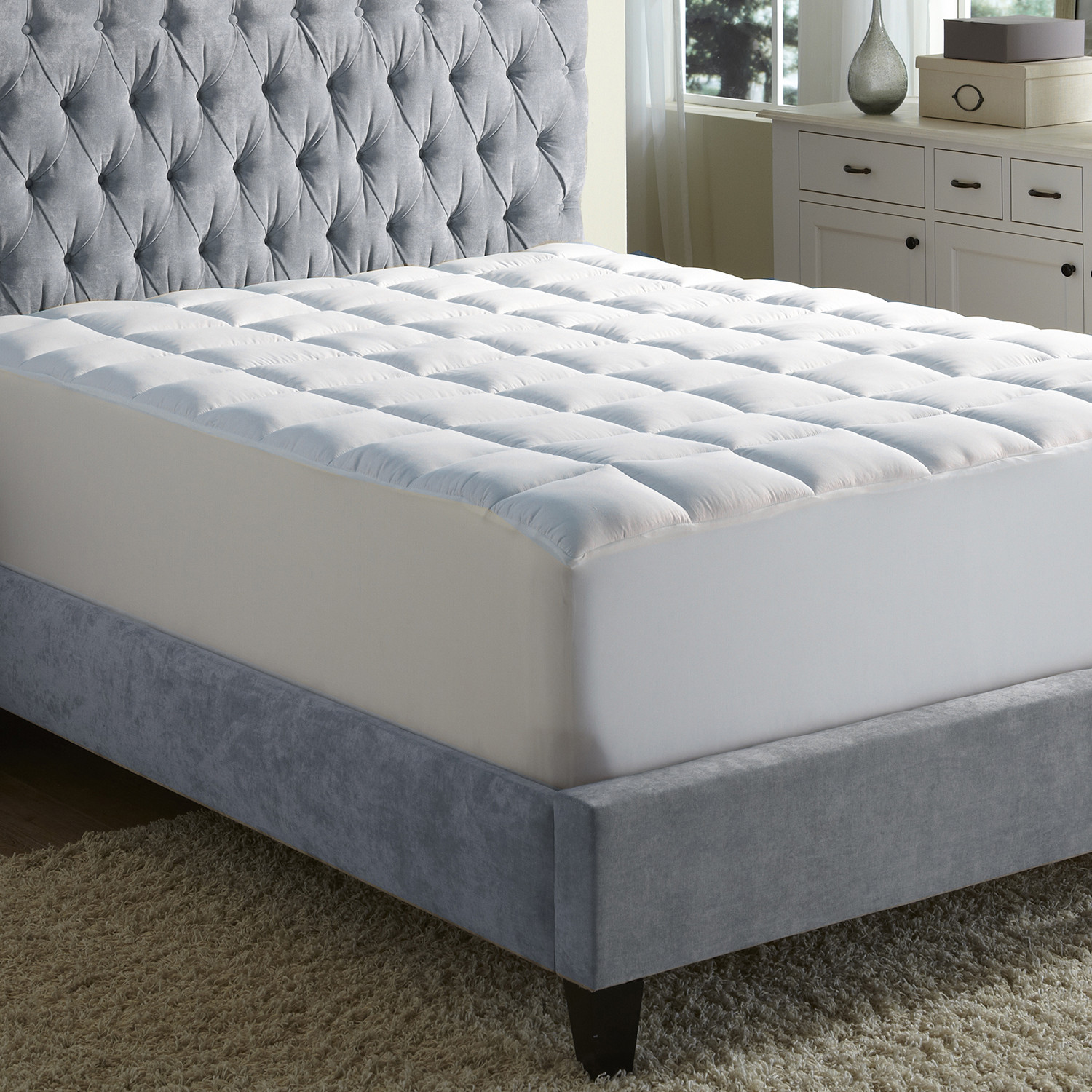Cooling Mattress Pad + Coolmax Cotton Blended Cover (Twin ...
