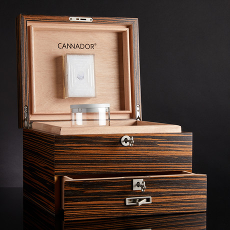 8-Strain Cannador + Drawer // Zebra Wood