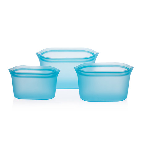 Silicone Food Storage Boxes (Blue)