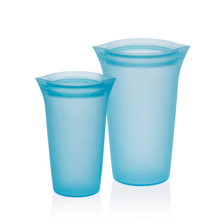 Silicone Food Storage Cups (Blue)
