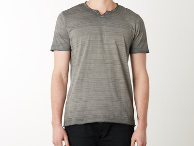 Photo of Projek Raw Fresh Swim Shorts & Tees Dirty Wash V-Neck Pocket Tee // Charcoal (M) by Touch Of Modern