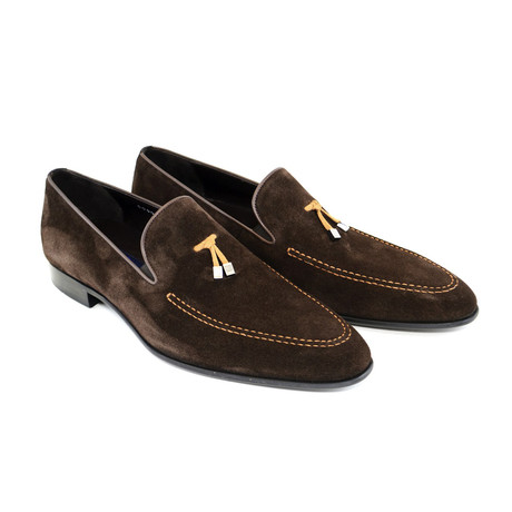 Suede Tassel Loafer V1 // Brown (US: 7)