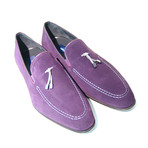 Suede Tassel Loafer // Purple (US: 7.5)