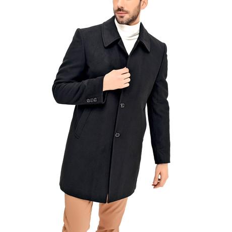 Barcelona Overcoat // Black (Small)