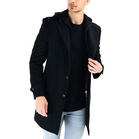 Siena Overcoat // Black (Small)