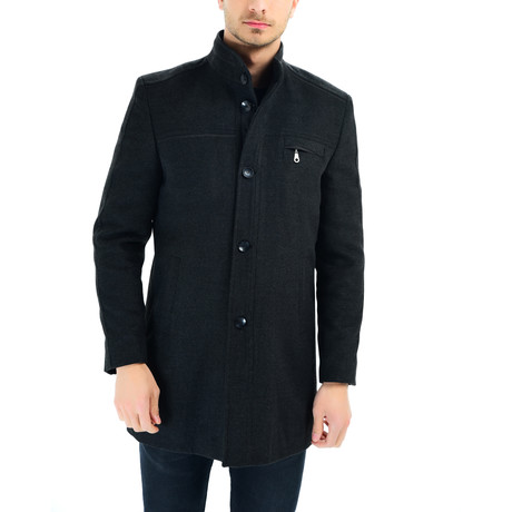 Lisbon Overcoat // Anthracite (Large)