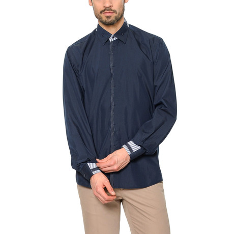 G560 Button-Up Shirt // Dark Blue (M)