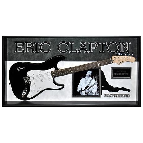 Framed + Signed Guitar // Eric Clapton