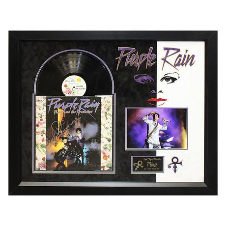 Signed + Framed Album Collage // Prince