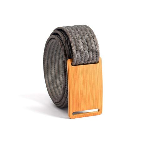 Bamboo Belt Narrow // Gray Strap (28)