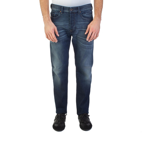 Diesel // Regular Slim-Tapered Buster 0853V Stretch Jeans // Blue (US: 35)