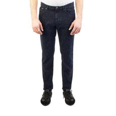 Versace Collection // Slim Fit Jeans // Navy + Black (US: 32)