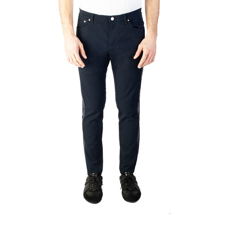 Versace Collection // Skinny Fit Sequin Studded Pants // Navy Blue (US: 32)