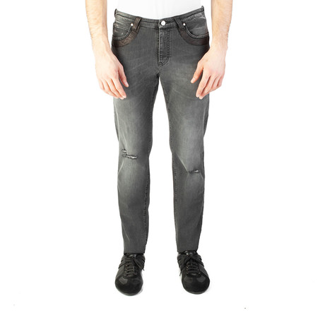 Versace Collection // Relaxed Fit Ripped Jeans // Black (US: 32)