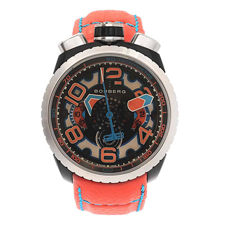 Bomberg Bolt 68 Orange Chronograph Automatic // BS47CHASP.041-4.3 // Store Display