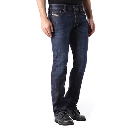 Diesel // Regular Slim-Straight Fit Safado 0844C Jeans // Dark Blue (US: 36)