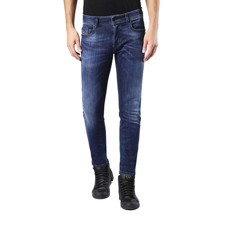 Diesel // Slim-Skinny Fit Sleenker 0679K Stretch Jeans // Blue (US: 36)