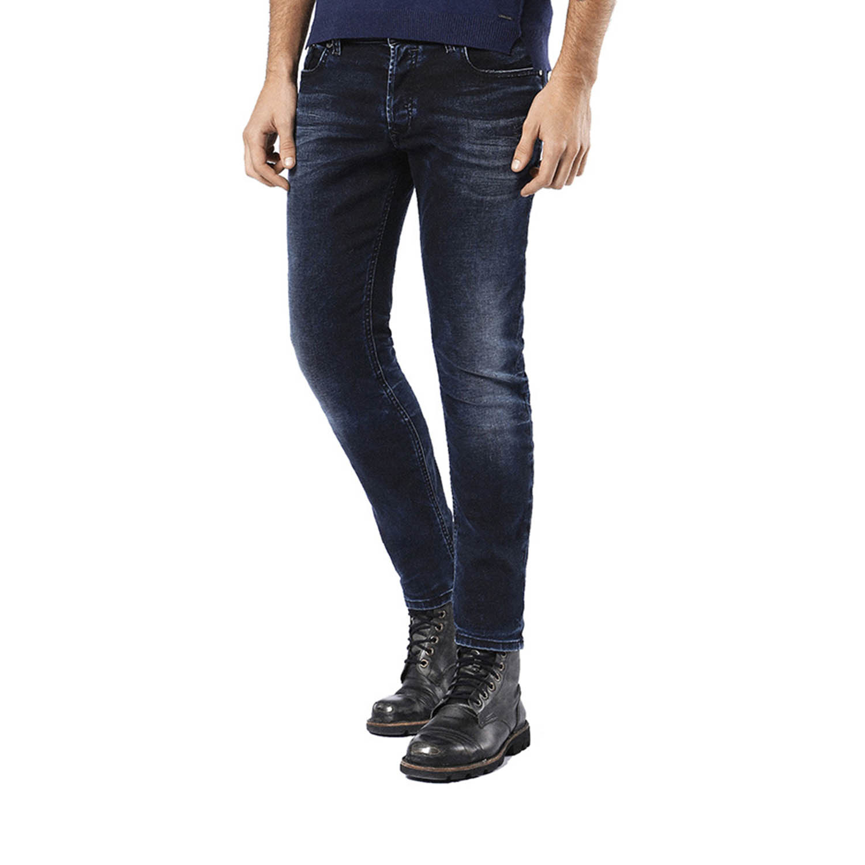5870ba17966 Diesel // Slim-Skinny Fit Sleenker 0679Q Stretch Jeans // Dark Blue ...