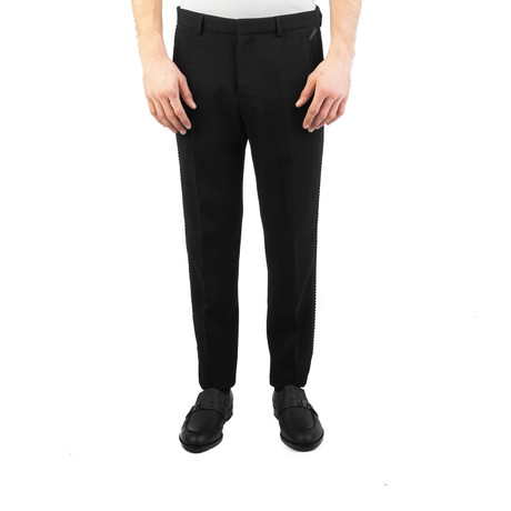 Versace Collection // Tailored Studded Trouser Dress Pants // Black (US: 32)