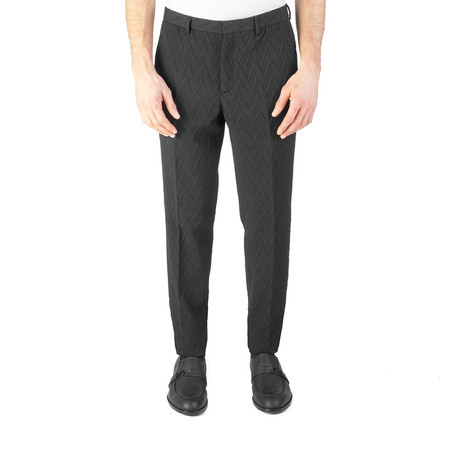 Versace Collection // Wool Blend Slim Fit Trouser Pants // Black (US: 32)