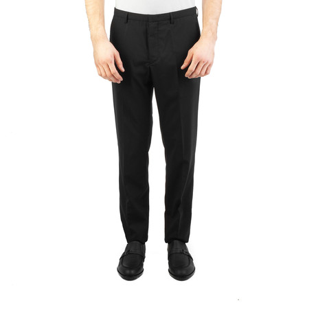 Versace Collection // Wool Slim Fit Trouser Dress Pants // Black (US: 31)
