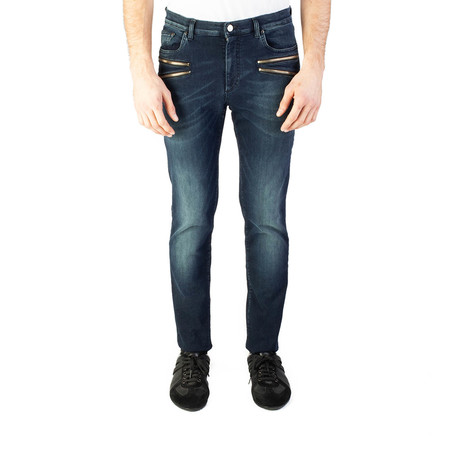 Versace Collettion // Slim Fit Jeans // Dark Blue (US: 31)