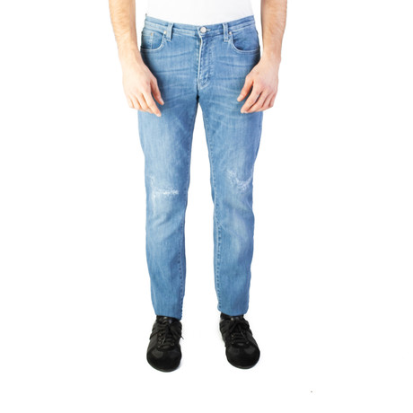 Versace Collettion // Slim Fit Ripped Jeans // Blue (US: 28)