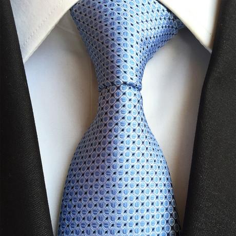 Silk Tie // Blue + White
