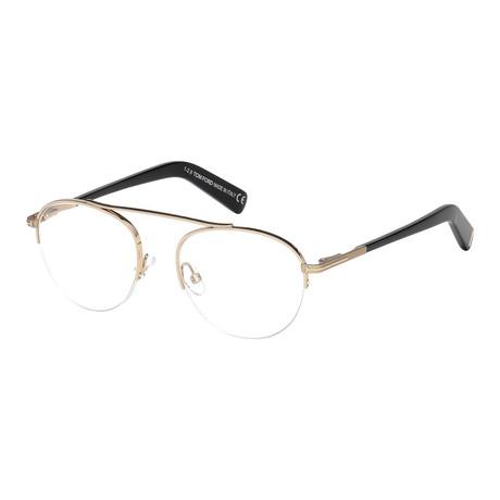 Tom Ford // FT5451 Eyeglass Frames // Gold + Black