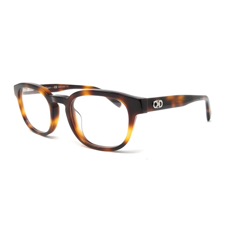 Ferragamo // Men's Small Round Optical Frames // Tortoise