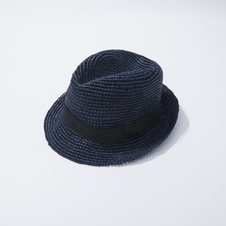 Straw Fedora // Blue (S)