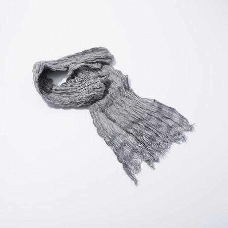Border Stripe Scarf (Shark)