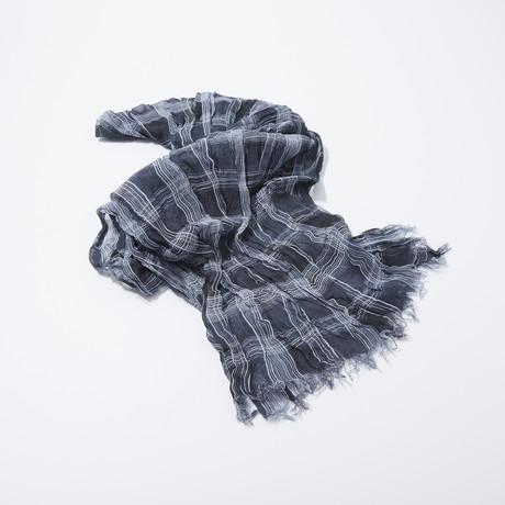 Shirt Plaid Scarf (Pearl Grey)