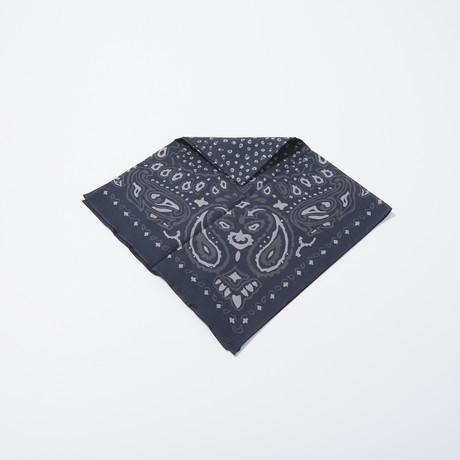 Paisley Skull Print Bandana (Black)