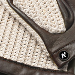 napoCROCHET // Brown + Beige (Small)