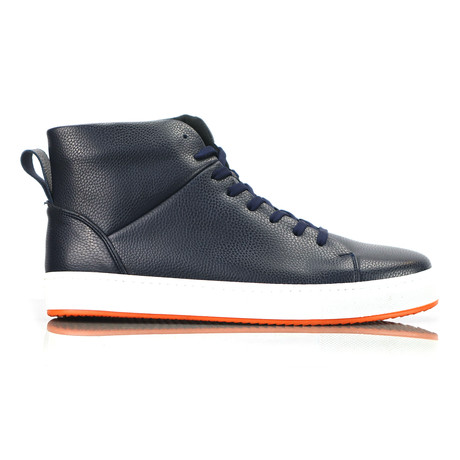 Livoe High Top Sneakers // Navy (Euro: 40)